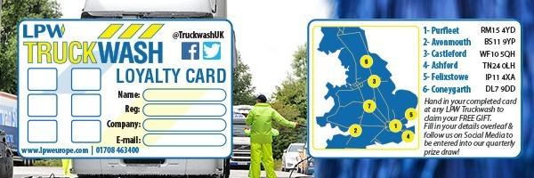 Truckwash Loyalty Card