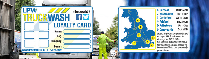 Truckwash Loyalty Card