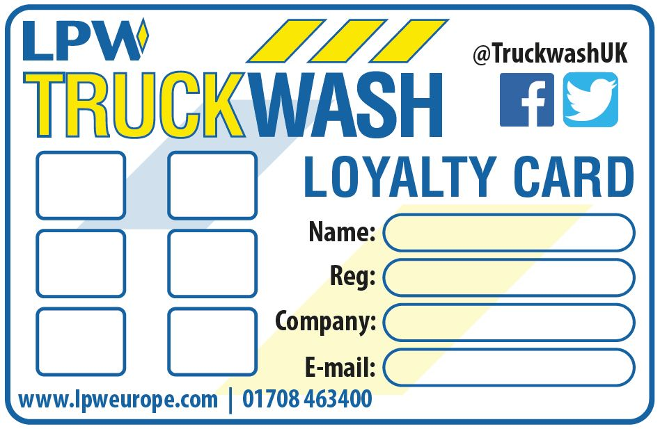 Truck Wash loyalty card